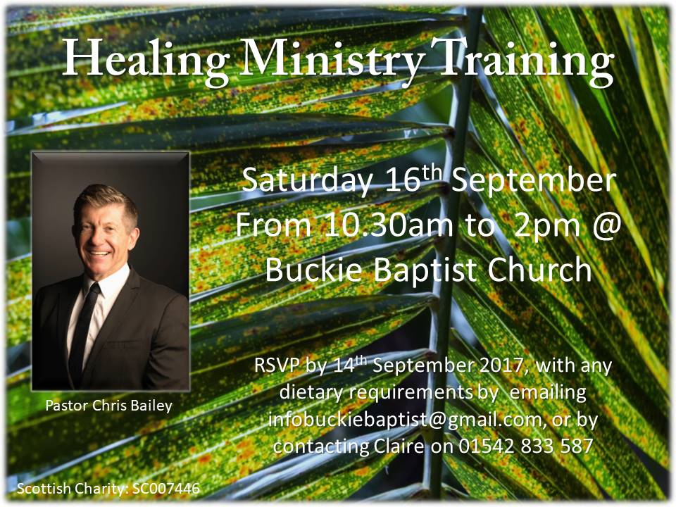 Healing ministry training day with Chris Bailey